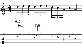 Blues Scale Lick 1 Tab