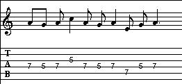 Blues Scale Lick 3 Tab